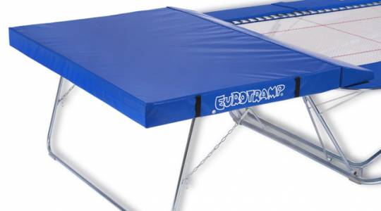 "Trampoline with safety platform ""Competition"" and mats"