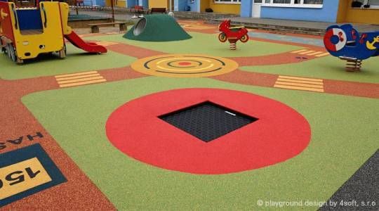 Playground trampoline Kids Tramp Playground from Eurotramp in cooperation with 4soft