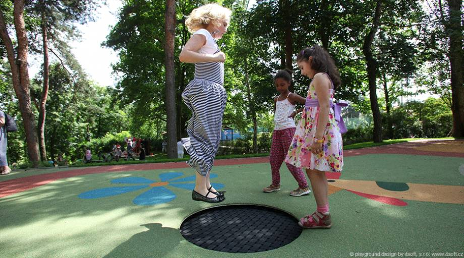Playground Trampoline Kids Tramp Quot Playground Loop