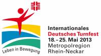Event logo of International German Gymnastics Festival 2013 in the Rhine-Neckar Metropolitan Region from 18 to 25 May 2013