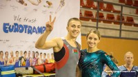 Smiling winners at the 6th Trampoline World Cup in Loulé 2015