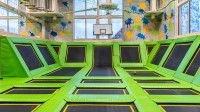 Dodgeball and trampoline park at Feldberger Hof with trampolines from Eurotramp