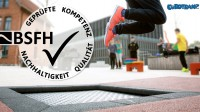 Eurotramp receives quality seal of the BSFH for its playground trampolines.