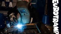 Eurotramp employee with welding torch