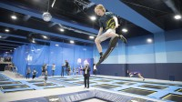 Trampoline and freestyle hall FlipLab with trampolines from Eurotramp