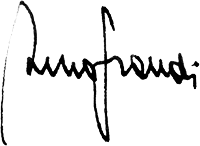Signature of Bruno Grandi